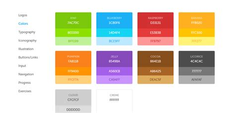 interesting colors design style guides to learn from in 2018 punit web medium
