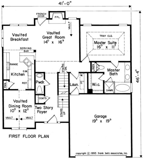 Holland Home Plans And House Plans By Frank Betz Associates