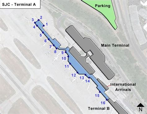 san jose international terminal map sjc san jose mineta airport terminal maps