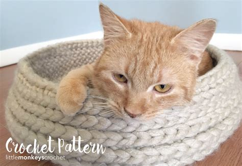 cat bed pattern cat bed crochet pattern tabby chic cat bed crochet pattern by