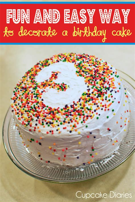 and easy way to decorate a birthday cake cake