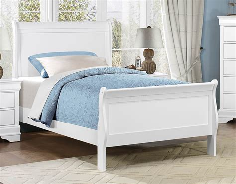 white twin sleigh bed mayville burnished white twin sleigh bed from homelegance