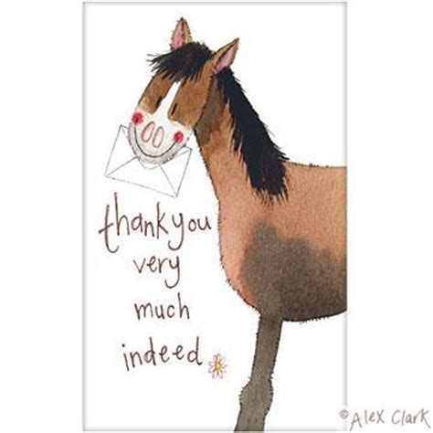 The Stable Home Decor Alex Clark Horse Thank You Cards Filly And Co