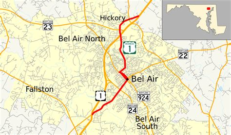 maryland map bel air u s route 1 business wikidata