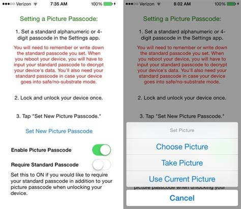 pattern password tweak how to replace numerical pin with picture passcode on iphone