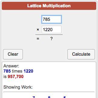 calculator soup lattice multiplication calculator