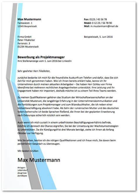 Anschreiben Projektmanager Beispiel Bewerbung Vordrucke Kostenlose Word Muster Karrierebibel De