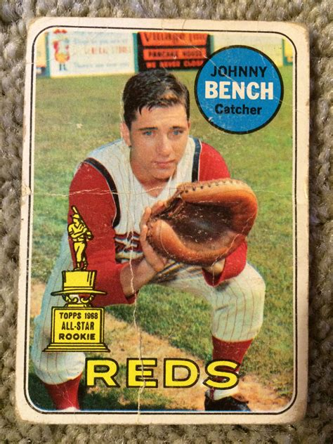 what number was johnny bench lot detail johnny bench 1969 2nd yr topps creases