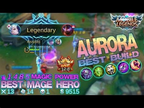 mobile legends  hero aurora  build mvp