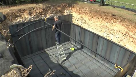 building a bunker in your backyard video be in awe as a prepper completes a survival bunker