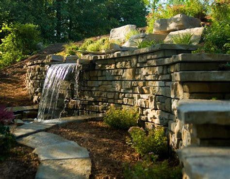 waterfall coming    retaining wallcool idea