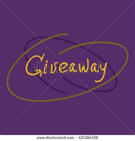 Giveaway Synonym - giveaway word custom doodle typography banner stock vector 421384567 shutterstock