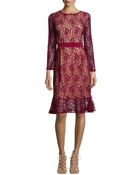 Sleeve Ruffle Hem Dress masse sleeves lace dress w ruffle hem plus size