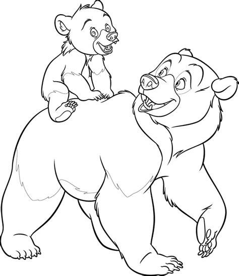 brother bear kleurplaten disneykleurplaten