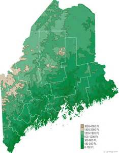 Main State Map by Map Of Maine