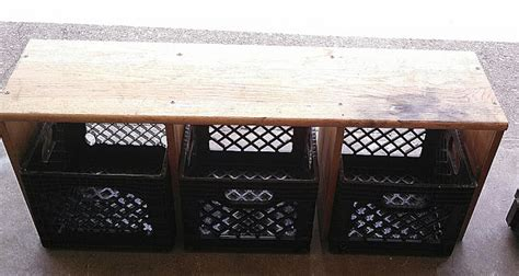 milk crate bench drab to fab diy country entryway bench with milk crates