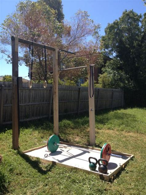 backyard gymnastics equipment 25 best ideas about outdoor gym on pinterest outdoor