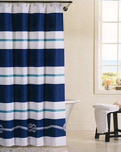 Navy And Teal Curtains 17 Best Images About все что вам нужно для душа On Pinterest Taupe Damasks And Nautical Rope