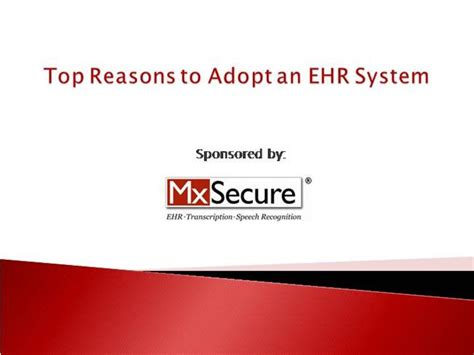 Ehr Powerpoint Templates Ehr System Mxsecure Authorstream