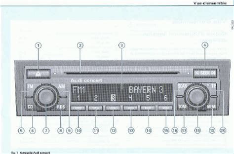 Audi Concert Radio Manual by User S Guide Audi Concert 2 Cd Car Radio