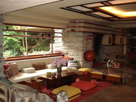 frank lloyd wright interiors falling water frank lloyd wright s masterpiece