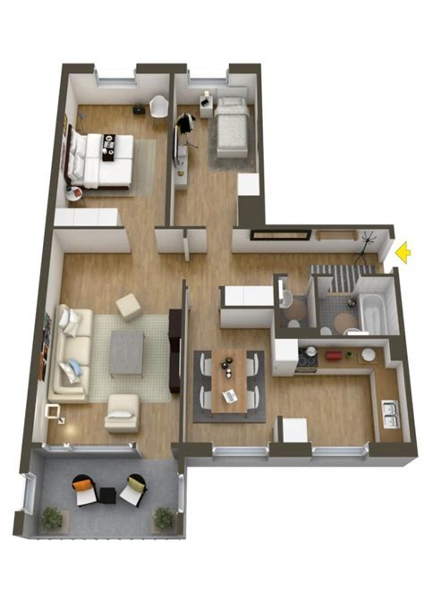 good 3d home design software a dining room and bit kitchen make this a good option for