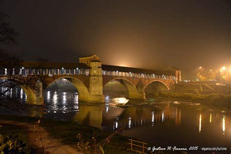 notte pavia pavia il ponte coperto di notte viqueria
