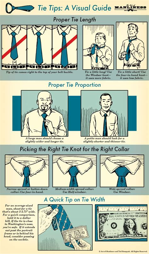 necktie tips for an illustrated guide the of