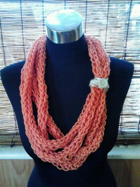 finger knitting scarf finger knit scarf scarves knit scarves