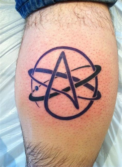 fine tattoo designs atheist atom tattoos my site daot tk