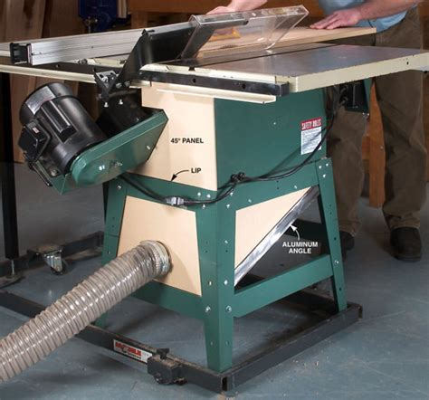 table saw dust collection capture tablesaw dust popular woodworking magazine