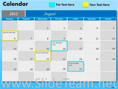 powerpoint template calendar milestone calendar ppt template powerpoint diagram