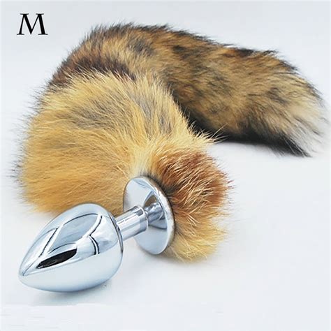 the fox tail bungalow company anal plug fox tail stainless steel butt plug cat tail anal