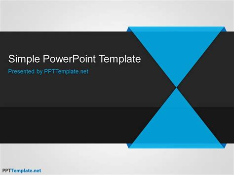 Free Minimalism Ppt Template Simple Business Powerpoint Templates