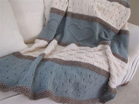knitted throw blanket seaside blanket pattern knit blanket knit by theknittingcloset