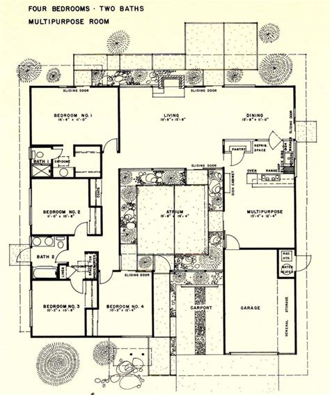Eichler Atrium Floor Plan | 1000 images about eichler floor plans on pinterest