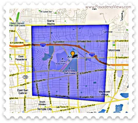 arcadia california map arcadia ca map
