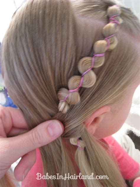 hair styes for girls with loom bands rubber band wraps flipped braids babes in hairland