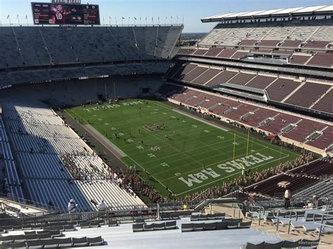 kyle field visitor section kyle field section 421 rateyourseats com