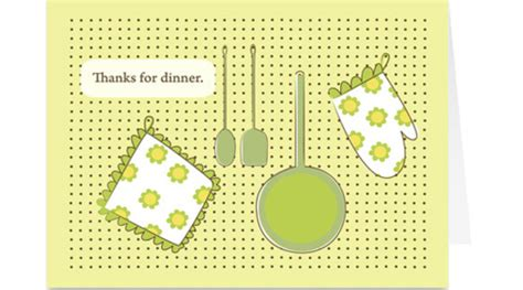 thank you for dinner card at home with kim vallee