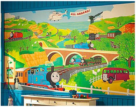 Thomas The Tank Engine Wall Mural thomas wall mural prepasted thomas tank train engine