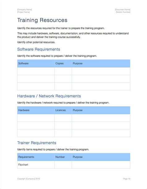 agenda template for apple pages training plan template project sdm training plan schedule