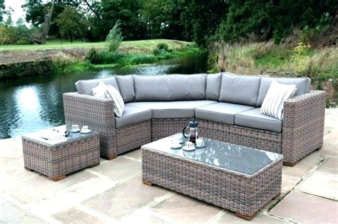 gray wicker patio furniture grey for dining sets chic