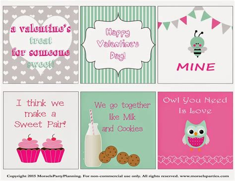 valentines day notes for s day free printable lunch notes