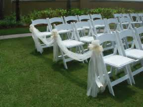 chair bows for weddings wedding ceremony chair decorations tulle and ribbon bows morning of wedding