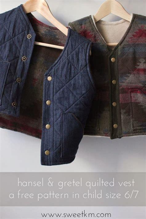 pinterest vest pattern free sewing pattern hansel gretel quilted vest