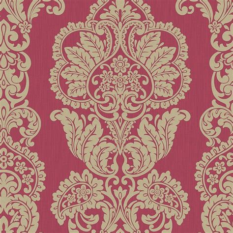 red damask wallpaper home decor fine decor rochester damask textured glitter wallpaper red