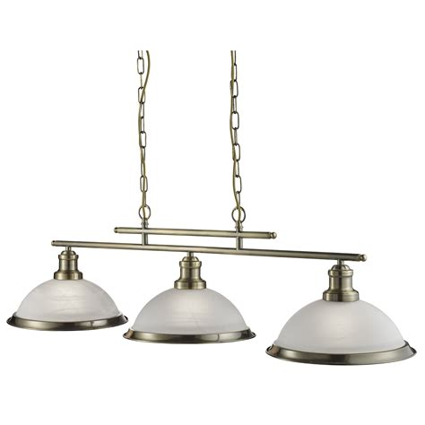 Antique Glass Pendant Lights Bistro Antique Brass 3 Light Ceiling Bar Pendant With Acid Glass Shades