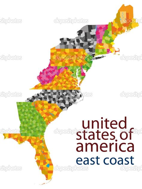 east coast in usa map map of eastern coast of united states images