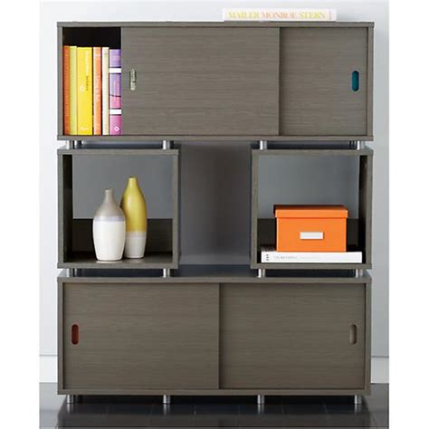 small driftwood vario stacking shelf the container store